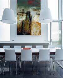 oversized art dining room contemporary with life edge dining table