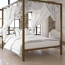 Gold Canopy Bed Dhp Modern Canopy Bed With Built In Headboard Classic