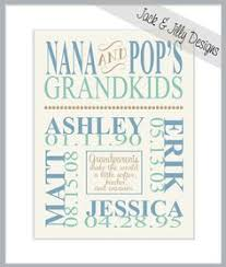 grandkids wood carved sign with clips for pictures great gift