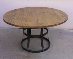 wood and metal round dining table wood and metal round dining table dining room ideas