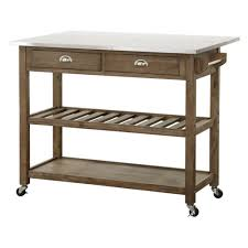 Kitchen Islands With Drop Leaf Boraam Drop Leaf Wood Kitchen Cart With Stainless Steel Top Ebay