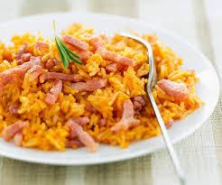 plats rapides à cuisiner riz à la sauce tomate et au jambon recette gourmand