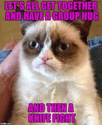 Group Hug Meme - grumpy cat meme imgflip