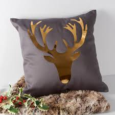 stag pillow stag cushion m s applique stag cushion m s collage