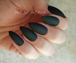 matte glossy black press on fake nails stiletto square oval
