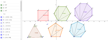 Interior Angles Of Polygon Sum Of Interior Angles Of A Polygon Using Triangles Geogebra