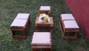 patio furniture pallets designs
