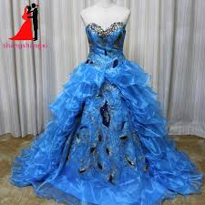 online buy wholesale peacock blue quinceanera dresses from china