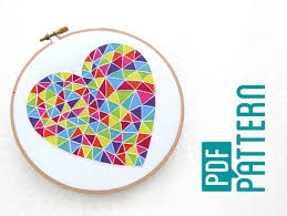 pattern art pdf beginner embroidery pattern easy hoop art tutorial pdf geometric
