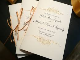 Wedding Programs Sample Wedding Program Booklet Gold Programs Jewish Wedding