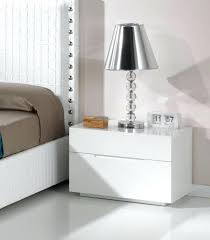 High Gloss Side Table Bedroom Side Tables With Drawers Lea Modern Bedside Cabinet In