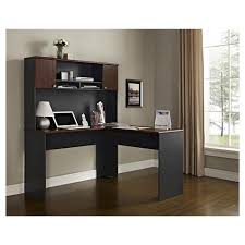 cherry desk with hutch the works hutch for l desk hutch only cherry slate gray