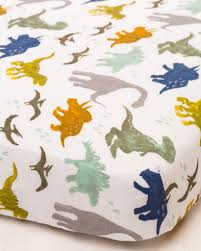 Muslin Crib Bedding Cotton Muslin Fitted Crib Sheet Dino Friends Spearmint Ventures