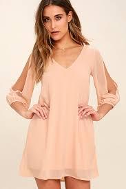 pretty blush pink dress shift dress cold shoulder dress 44 00