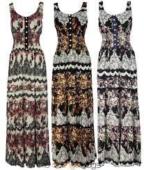 retro floral print ladies sleeveless long summer maxi dress plus