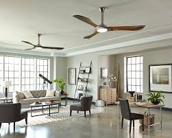 living room ceiling fan with a clean modern aesthetic and hand carved balsa wood blades