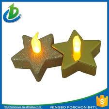 star shaped tea lights christmas star shaped metalic battery operated led tea light candle