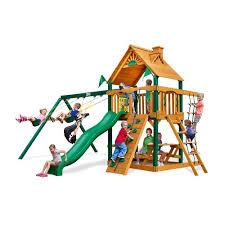 Wooden Backyard Playsets Play Sets U0026 Swing Sets Academy
