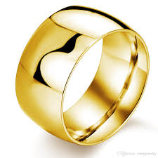 plain wedding rings 11 5mm wide 316l stainless steel 18k gold plated simple plain