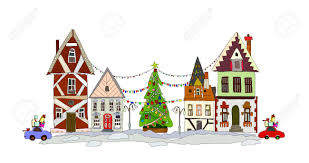 christmas houses christmas royalty free cliparts vectors and stock