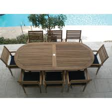 Round Wooden Patio Table by Royal Teak 47 In Round Sailor Avant Patio Dining Set Seats 4