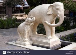 mother and baby elephant statue in the garden of dreams kaiser