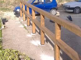 ringhiera in legno per giardino ringhira in legno esterna corso legnami srl ringhiere segesta