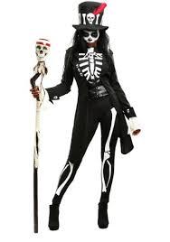 womens skeleton jumpsuit voodoo skeleton s costume goregirl