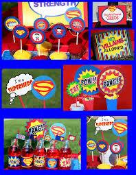 6 images superman birthday party printables superman