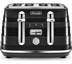 Delonghi Icona 4 Slice Toaster Black Breville Curve Vtt787 4 Slice Toaster White Compare Bluewater