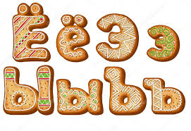 russian gingerbread alphabet christmas cookies u2014 stock photo