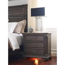 aldine three drawer nightstand with nightlight and built in