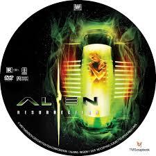 alien resurrection dvd label 1997 r1 custom