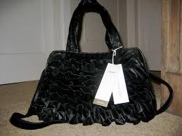 lexus umbrella uk john rocha black u0027lexus u0027 frill shoulder bag charlottes