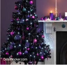 black christmas tree decorated black christmas tree ideas photogiraffe me