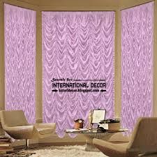 stylish purple french curtain style for living room curtain designs
