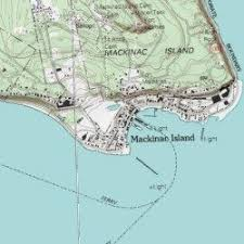 map of mackinac island mackinac island mackinac county michigan populated place