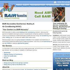 bair necessities section studies web development company