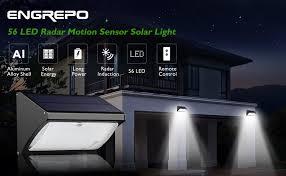 solar light for home amazon com engrepo 56 led 1000 lumens solar lights outdoor uses
