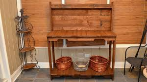 Free Wood Workbench Designs by Build A Garden Potting Work Table For Free Out Of Old Wood Pallets