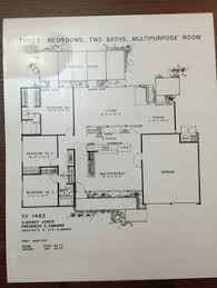 Eichler Homes Floor Plan 943 Original At Ucla Library Special Special Floor Plans