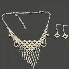 bridal jewelry weiya stylish rhinestone and imitation pearl necklace drop