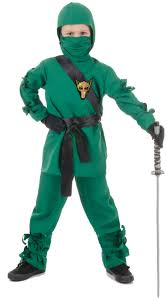 Kids Ninja Halloween Costume Unisex Green Ninja Costume Kids Costumes