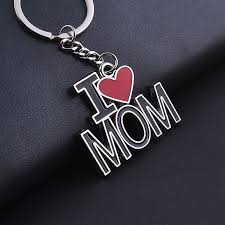 red key rings images Fashion i love mom papa red heart keyrings keychain family party jpg