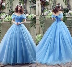 cinderella wedding dress cinderella wedding dresses gown blue organza princess