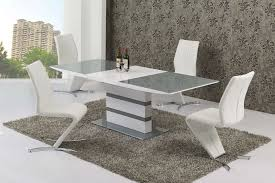 Large Extending Dining Table Large Extending 8 Seater Gloss Grey Glass Dining Table Chairs
