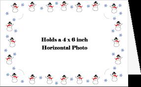 photo insert christmas cards photo frame greeting card snowmen