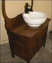 Vessel Sink Bathroom Vanity by Sink On Top Of Antique Wash Stand Antique Bathroom Vanity
