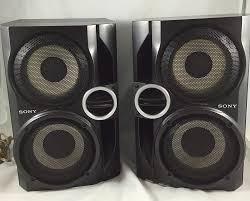 home theater sony sony speakers ss rg40 pair stereo hybrid dual woofer home theater