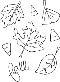 printable fall coloring pages kids colouring fall leaves